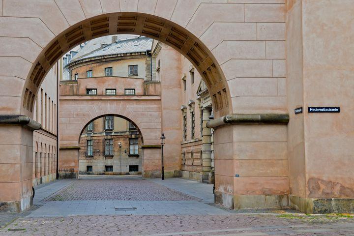 Copenhagen Courthouse Alleyway - Catherine Sherman