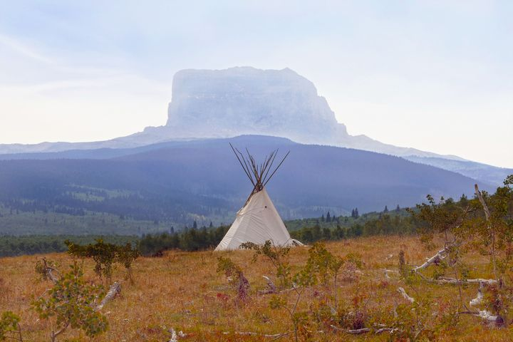 Tipi at Chief Mountain, Montana - Catherine Sherman