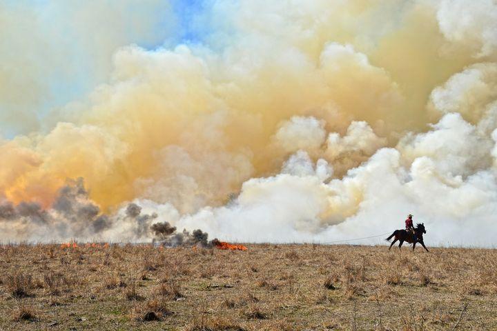 Starting a Controlled Burn, Kansas - Catherine Sherman