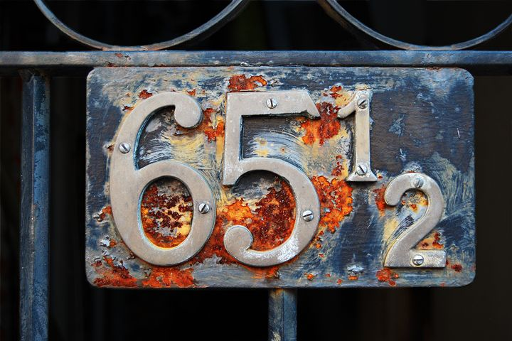Sixty-five and a Half Address Plaque - Catherine Sherman