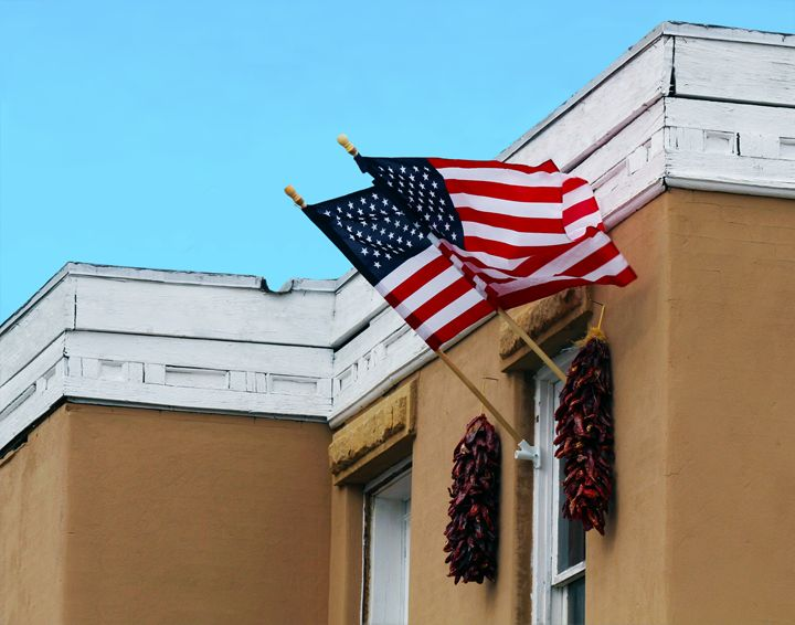 Flags Flying in Albuquerque - Catherine Sherman