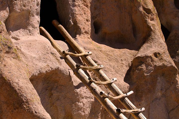 Bandelier Ancient Pueblo Ladder - Catherine Sherman