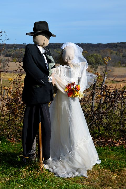 Scarecrow Bride and Groom - Catherine Sherman