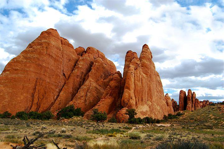 Arches National Park, Sandstone Fins - Catherine Sherman
