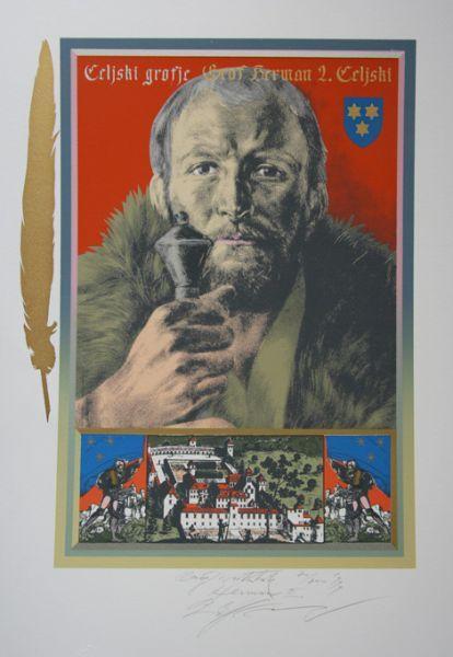 Hermann II Count of Celje Slovenia - Rudolf Španzel, Slovenia