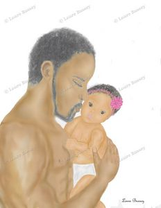 Father And Daughter Art Print - Loure Bussey