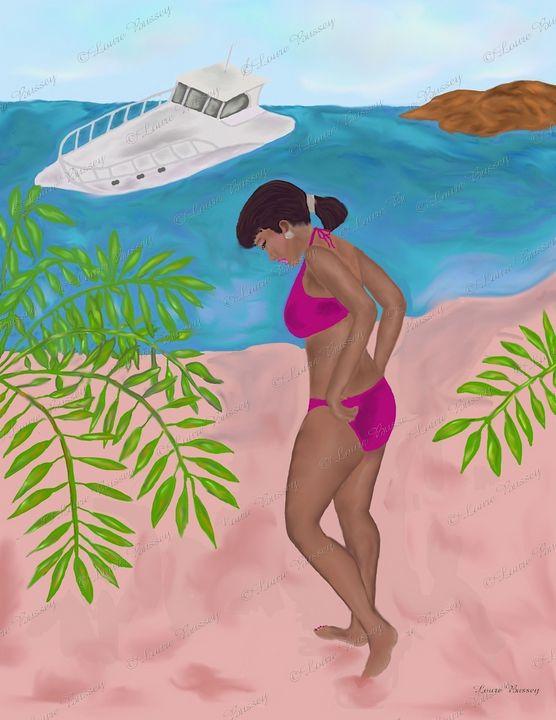 Beauty At The Beach Art Print - Loure Bussey
