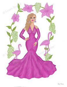 Vision In Pink Art Print