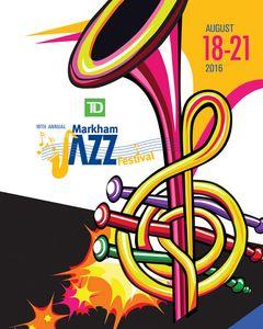 Markham Jazz Festival Horn Logo