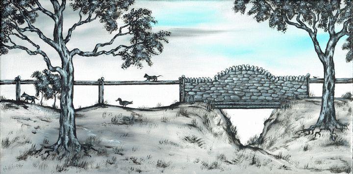Footbridge. - Kenneth Clarke Artist.