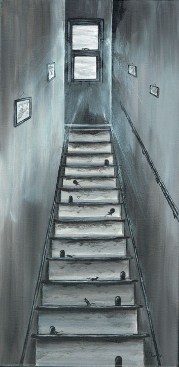 Upstairs Downstairs. - Kenneth Clarke Artist.
