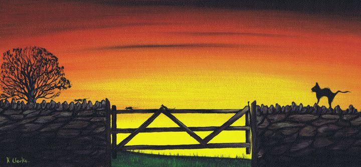 On The Run. - Kenneth Clarke Artist.