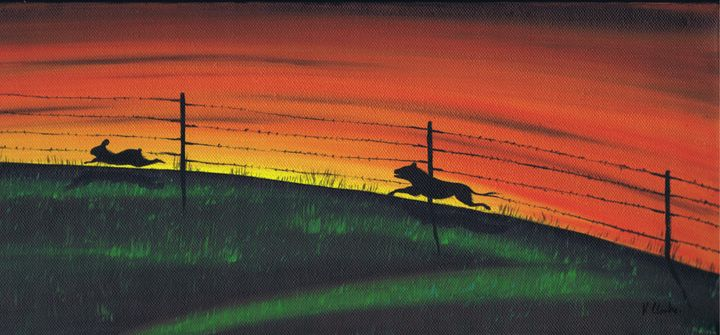 The Chase. - Kenneth Clarke Artist.