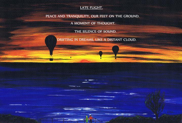 Late Flight. - Kenneth Clarke Artist.