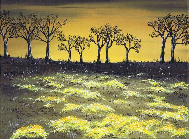 Twilight Meadow - Kenneth Clarke Artist.