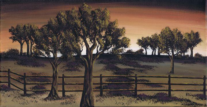 Heather Pasture. - Kenneth Clarke Artist.