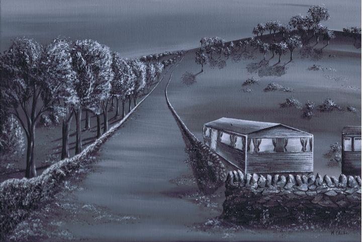 Home Road. - Kenneth Clarke Artist.