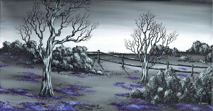Boundry Fence. - Kenneth Clarke Artist.