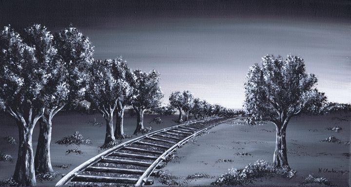 Cross Country. - Kenneth Clarke Artist.
