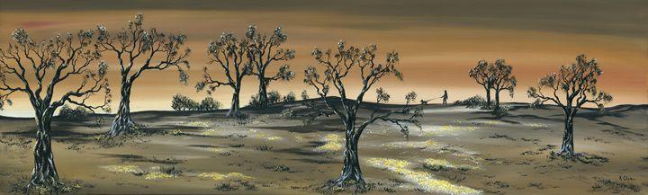 Morning Walk. - Kenneth Clarke Artist.