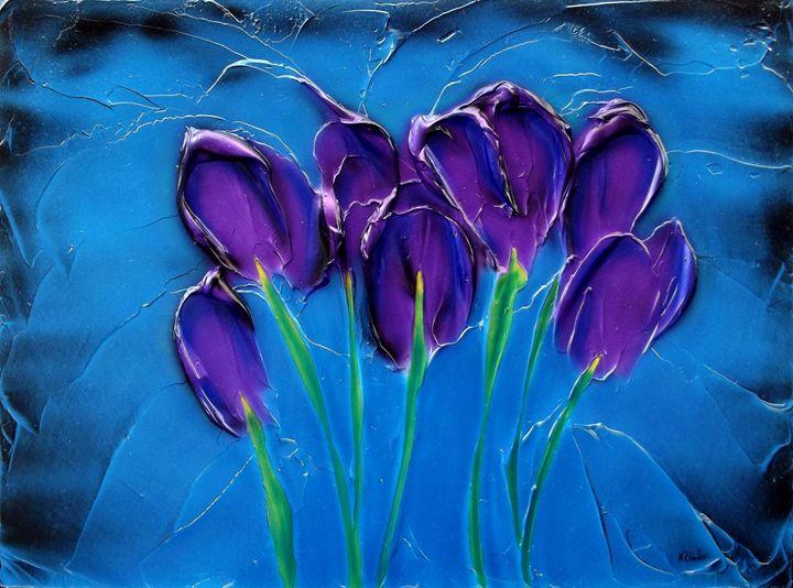 Violet Posy. - Kenneth Clarke Artist.