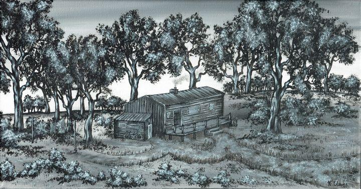 Cabin In The Woods. - Kenneth Clarke Artist.