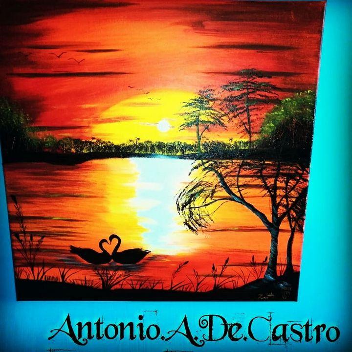 LOVE OF THE SWAN - Antonio.A.De.Castro art