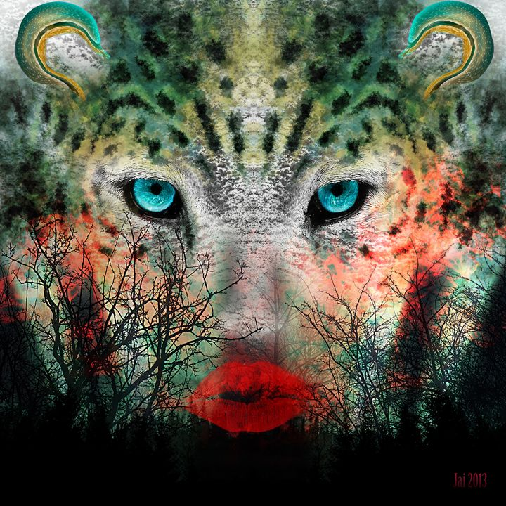 Endangered Snow Leopard - Art of Jaikumar