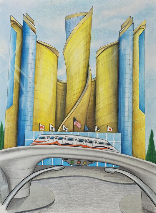 Futuristic Renaissance Center - larry farley