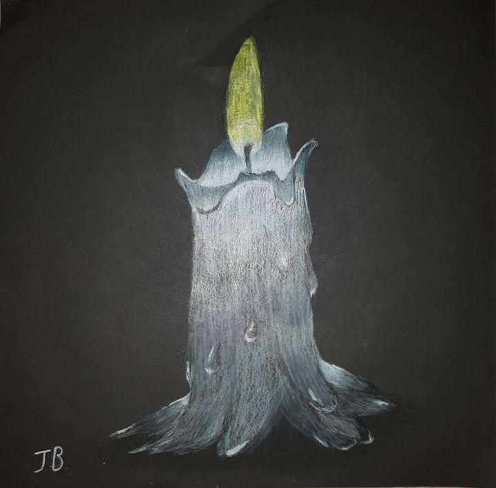 Candle In A Dark Room Jon B Drawings Illustration Still Life