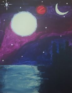 Night sky somewhere - Tiarra Walters