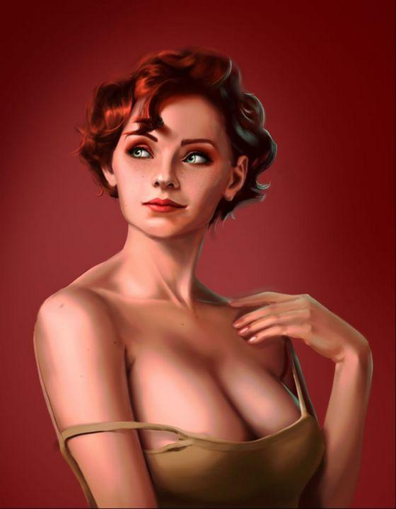 Woman Art Panting - byanthony