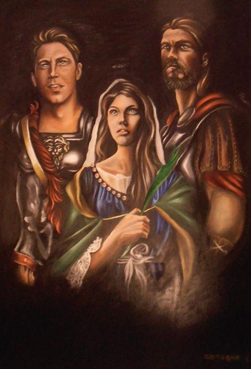 Saints Nicandro, Marciano et Daria - Cotugno Arte