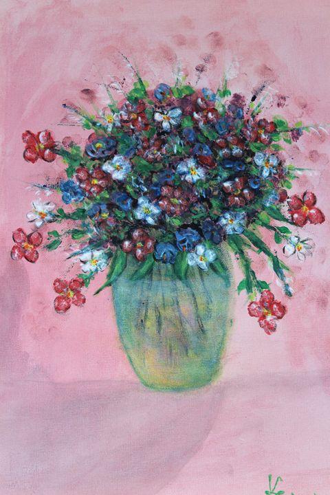 Flowers in the vase - Paintings