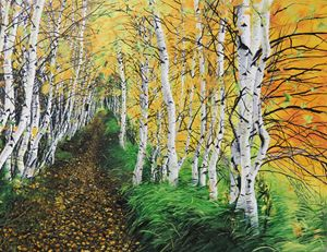 Birch's Path - IvyRadicans Art