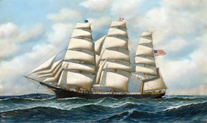 Clipper In Rough Seas