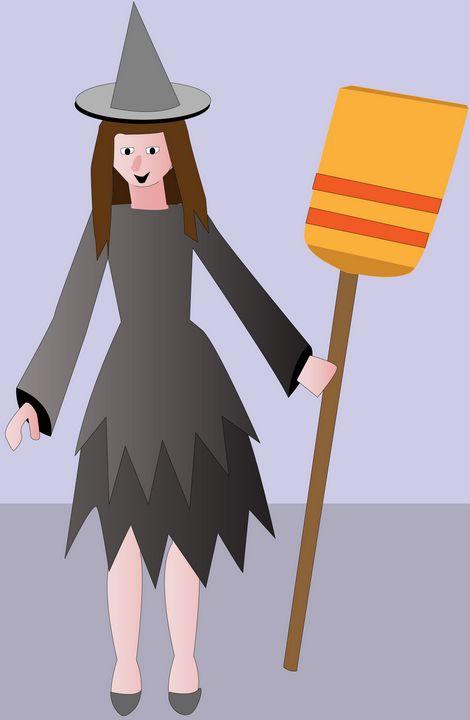 Μάγισσα με την σκούπα της - Eirini kini
