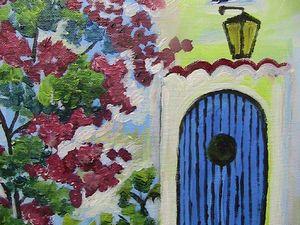 Φως, πόρτα , αναρριχόμενο φυτό.