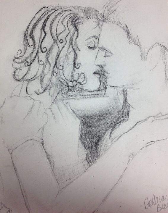 Unfinished Kiss - Harmony Hands Art