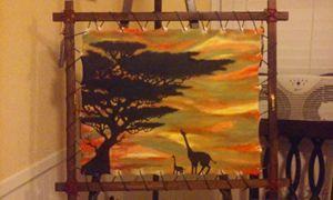 "kameelperde ma"" original acrylic pan"