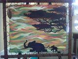 Original acrylic painting oilaphant