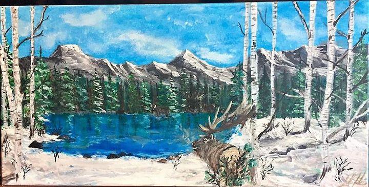 Elk in Montana Mountains - Sarah Kleinhans