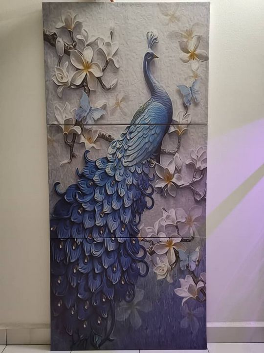 3D EFFECT PEACOCK CANVAS PRINT - Hohokessler