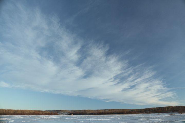 Winter sky - Oleksandr Liashenko Art