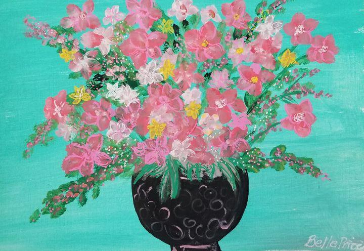 Pink Flowers in a Vase - Belle Price
