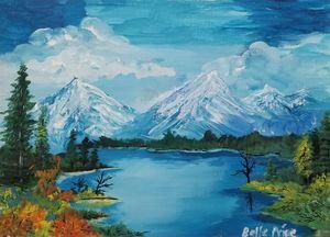 Snowcapped Mountain Landscape