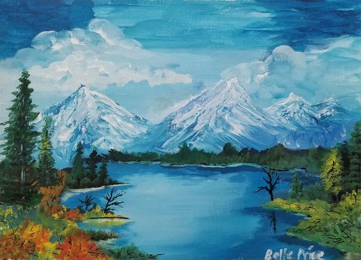 Snowcapped Mountain Landscape - Belle Price