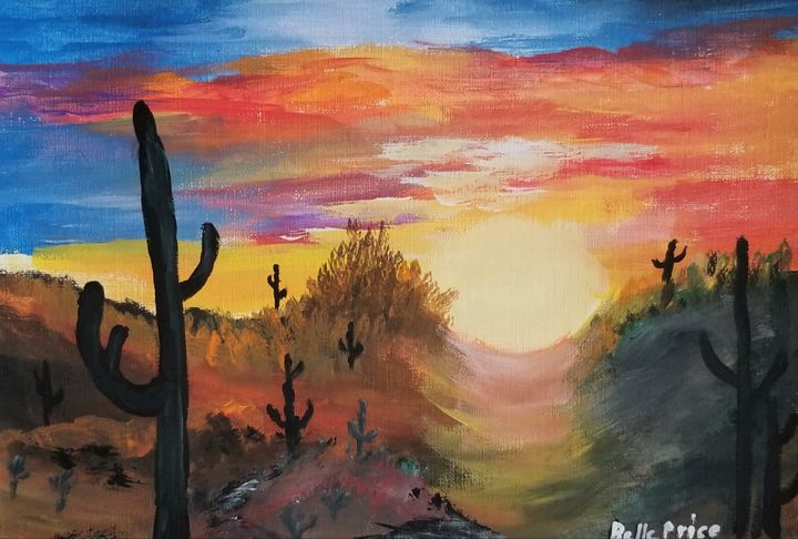 Sunset in the Desert - Belle Price
