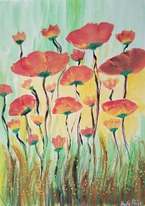 Orange and Red Poppies
