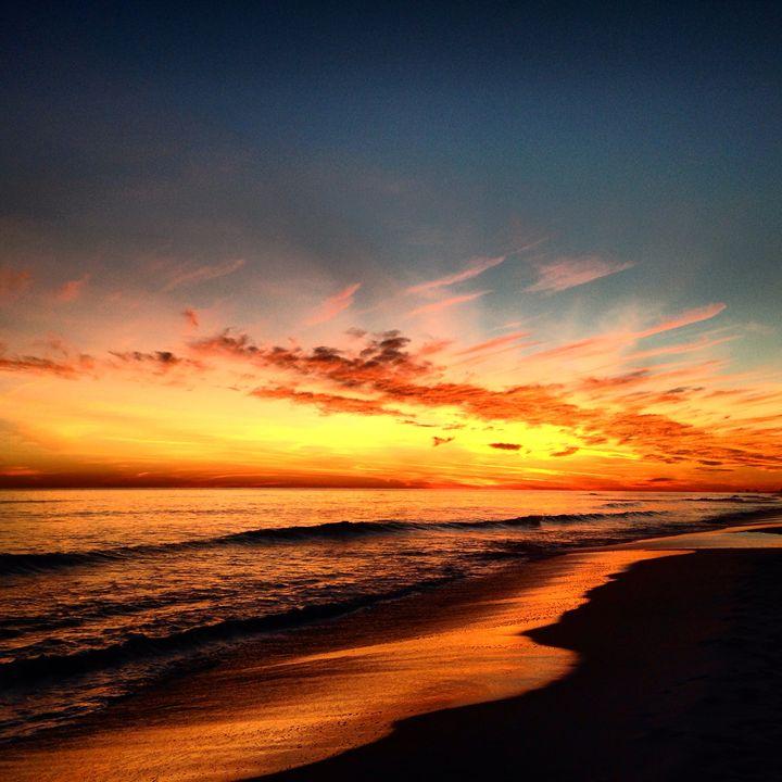 Sky on Fire Sunset - Allison's photography
